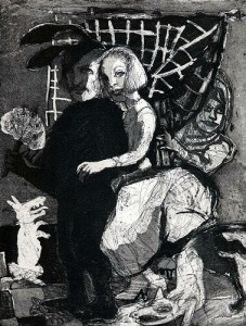 Home sweet home (La menagerie), 2004, etching, 27 x 21 cm, edition 30