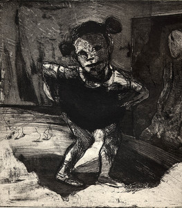 Incomplete tales: Mickey Mouse hat, 2001, etching/aquatint, 24 x 25 cm, edition 25