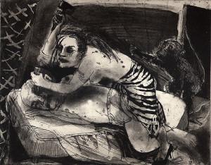 Jael and Sisera 1, 2007, etching/aquatint, 20 x 25 cm, edition 30