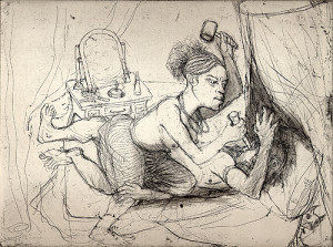 Jael and Sisera 2, 2007, etching, 22 x 28 cm, edition 30