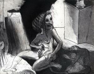 La Petite Mort 13, 2005, etching, 20 x 25 cm, edition 30