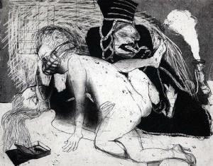 La Petite Mort 15, 2005, etching, 20 x 25 cm, edition 30