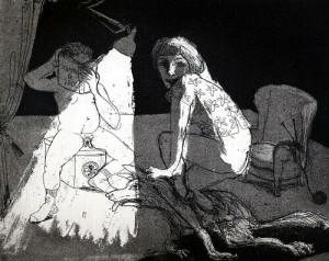 La Petite Mort 2, 2005, etching, 20 x 25 cm, edition 30