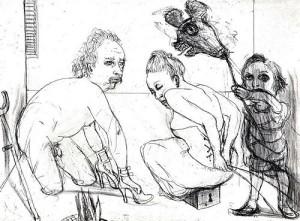 La Petite Mort 3, 2005, etching, 20 x 25 cm, edition 30