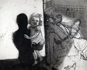 La Petite Mort 7, 2005, etching, 20 x 25 cm, edition 30