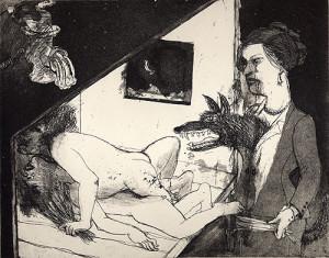 Le Mariage 2, 2006, etching/aquatint, 20 x 25 cm, edition 30
