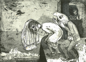 Le mariage 3, 2008, etching/aquatint, 22 x 30 cm, edition 30