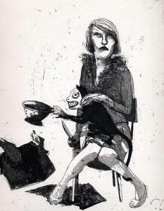Liar, liar, house on fire, 2004, etching, 26 x 21 cm, edition 30