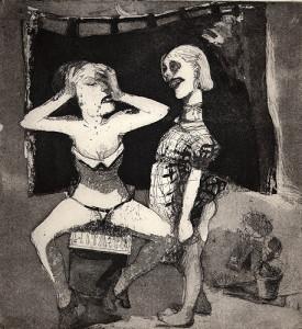 Little horrors, 2001, etching/aquatint, 23 x 21 cm, edition 25