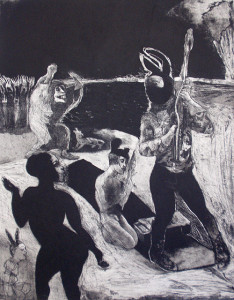 Loss of innocence 3, 2011, 50 x 40 cm, etching/aquatint, edition 30