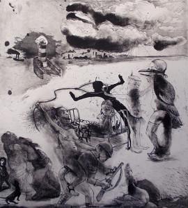 Loss of innocence 4, 2011, 50 x 40 cm, etching/aquatint, edition 30