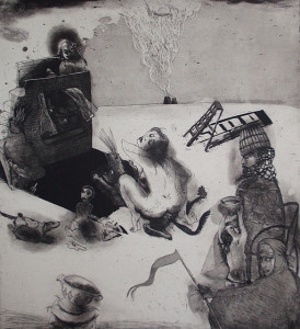 Loss of innocence 5, 2011, 55 x 40 cm, etching/aquatint, edition 30