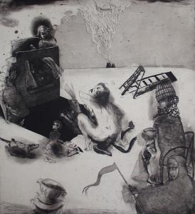 Loss of innocence 5, 2011, 55 x 40 cm, etching/aquatint, edition 30