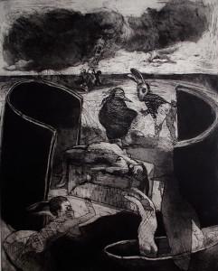 The drowning pool, 2011, 50 x 40 cm, etching/aquatint, edition 30