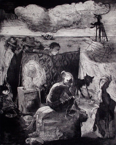 Loss of innocence, sacrifice, 2011, 50 x 40 cm, etching/aquatint, edition 30