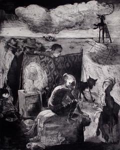 Loss of innocence, sacrifice, 2011, 50 x 40 cm, etching/aquatint, edition 30