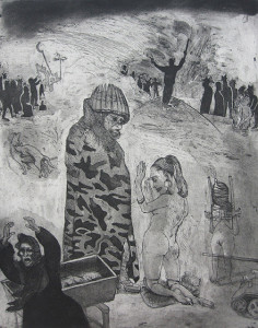 Loss of innocence, war, 2011, 50 x 40 cm, etching/aquatint, edition 30