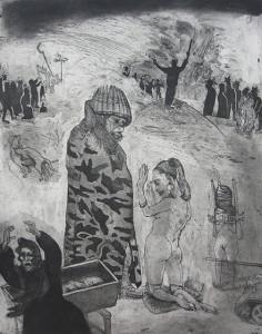 Loss of innocence, war, 2011, 50 x 40 cm, etching/aquatint, edition 30