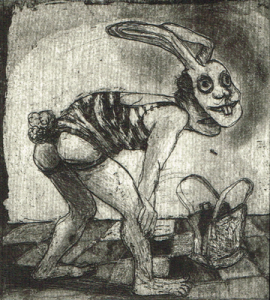 Love is a dog from hell 5, 2014, etching/aquatint, 10 x 9 cm, edition 15