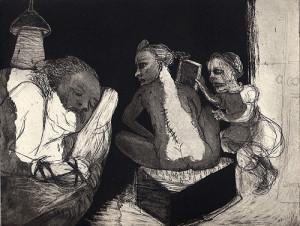 Nightwatch, 2006, etching/aquatint, 18 x 23 cm, edition 30