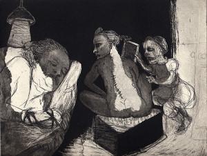 Nightwatch, 2006, etching/aquatint, 18 x 23 cm, edition 30