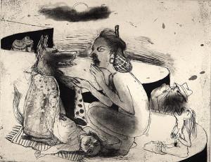 Open sesame, 2007, etching/aquatint, 20 x 25 cm, edition 30