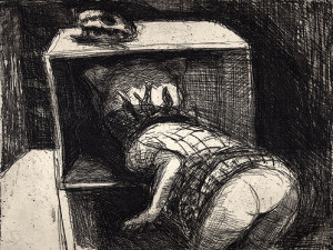 Secrets, 2001, etching, 19 x 25 cm, edition 25