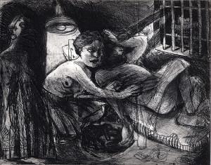 Sleep well my pretty 3, 2008, etching, 20 x 25 cm, edition 30