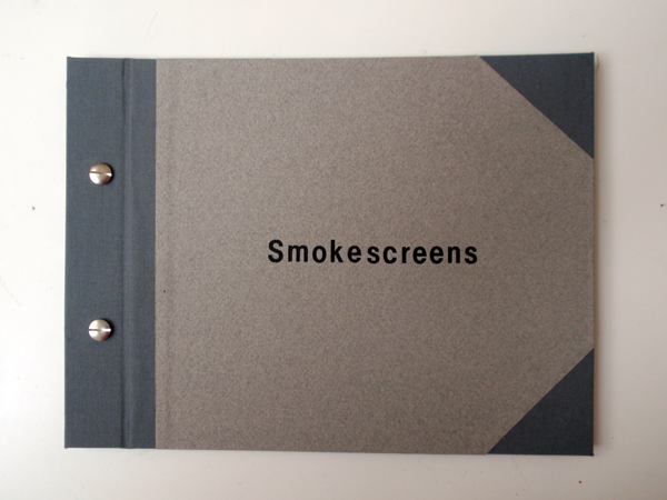 Smokescreens, 2013, Unique book, 8,5 x 24 cm, 6 reworked etchings and six text sheets