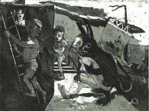 Storm warning, 2007, etching/aquatint, 23 x 30 cm, edition 30