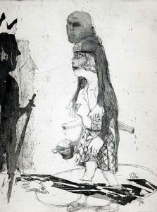 Tale of the handless maiden, 2003, etching, 29 x 23 cm, edition 25