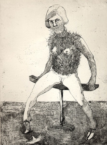 The foreigner, 2001, etching, 25 x 19 cm, edition 25