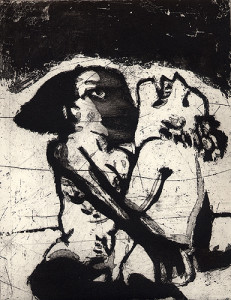 The great escape, 2006, etching/aquatint, 24 x 19 cm, edition 30