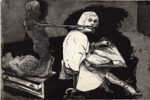 The picturemaker, 2001, etching/aquatint, 18 x 26 cm, edition 25