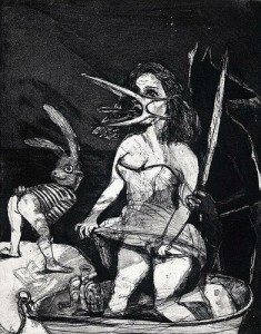 The return, 2004, etching, 24.5 x 19.5 cm, edition 30