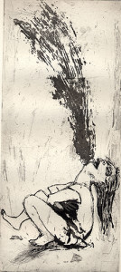 The scream, 2001, etching/aquatint, 30 x 13 cm, edition 25