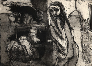 There are no Gods in the garden of Eden 1, 2006, etching/aquatint, 20 x 27 cm, edition 30