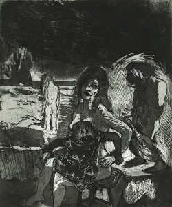 There are no Gods in the garden of Eden 3, 2007, etching/aquatint, 30 x 37 cm, edition 30