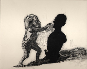 Totem, 2001, etching/aquatint, 20 x 25 cm, edition 25
