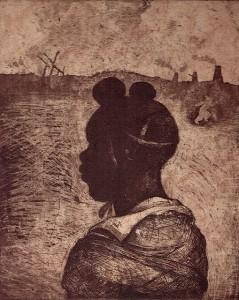 Child soldier 1 , 2013, 30 x 25 cm, etching/aquatint, V.E. 30