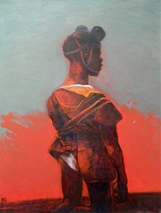 Child soldier 2, 2012, oil on canvas, 86 x 66 cm