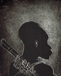 Child soldier 3 , 2013, 30 x 25 cm, etching/aquatint, 2013, ed. 30
