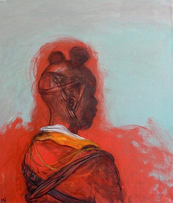 Child soldier 1, 2012, oil on canvas, 67 x 56 cm - © Marcelle Hanselaar
