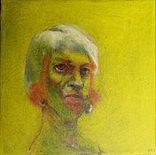 Self 5, 2011, oil on canvas, 20 x 20 cm
