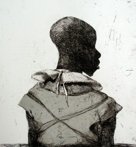 White collar black man , 2014, 40 x 40 cm, chine-collé V.E. 30