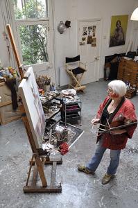 Marcelle Hanselaar in her studio.