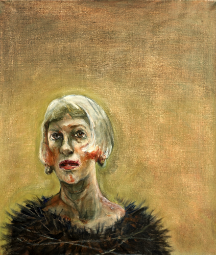 Self II, 2012, oil on canvas, 67 x 56 cm