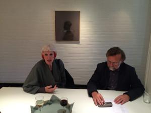 De Queeste Art Gallery owner Dirk Vonckx and Marcelle Hanselaar.